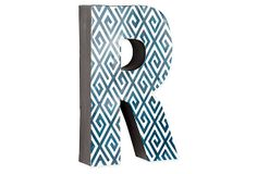 And this for me: Letter R, Navy Greek Key on OneKingsLane.com