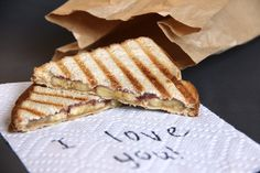 Better Than a PB Peanut Butter, Banana and Jelly Panini- a quick and easy upgrade from the classic
