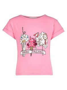 Little Marc Jacobs Kids T-shirt For Girls In Pink Little Marc Jacobs, Shirts For Girls, World Of Fashion, Girl Photos, Pink Girl, Kids Girls, Girl Outfits, Cotton, Mens Tops