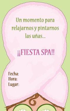 Invitaciones gratis para imprimir – Fiesta en un spa
