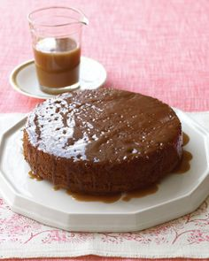 Sticky Toffee Pudding, an English favorite, ala Martha Stewart. No need to steam this version. Bake it, soak it in sauce, serve it with extra sauce and whipped cream. A little bit of heaven on a plate!