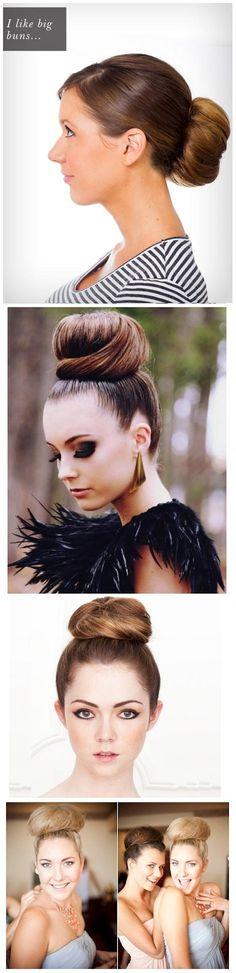 Beautiful Big Ballerina Bun   hairstyles tutorial