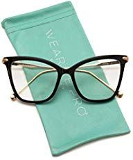WearMe Pro - New Elegant Oversized Clear Cat Eye Non-Prescription Glasses Fashion Eye Glasses, Cat Eye Glasses, Glasses Trends, Womens Glasses Frames, Lenses Eye, Cool Glasses, Optical Glasses, Glasses Online, Sephora