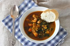 Freekeh Soup with Sweet Potato and Kale | TheCornerKitchenBlog.com