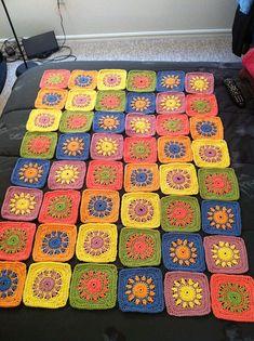 Crochet: Sunrise Sunset Afghan.
