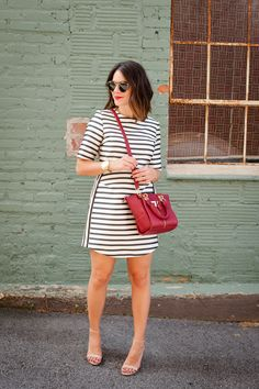 striped topshop dress, affordable party dresses - My Style Vita @mystylevita