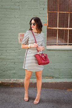 striped topshop dress via @mystylevita