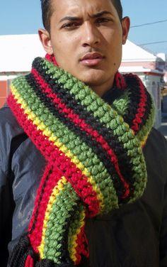 Rastaman Bob Marley Scarf - RHOs Red, Gold & Green Scarf
