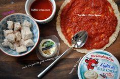 Healthy Buffalo Chicken Pizza.  Follow Kris on twitter - she's great @yngmarriedchic