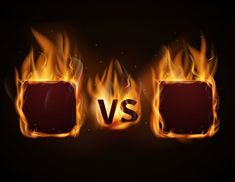 Versus screen with fire frames and vs letters Vector Image , Background Wallpaper For Photoshop, Ps Wallpaper, Black Background Images, Art Background, Foto Logo, Food Graphic Design, Team Logo Design, Logos Retro, Fire Image