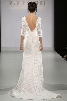 Maggie Sottero - Bridal Fall 2013    Embroidered, Floor-length, Long sleeves, Train, White, Cream, Maggie Sottero, Lace, Glamour