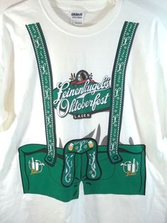 Leinenkugel's Oktoberfest Lager T Shirt Suspenders M 2 Sided | Collectibles, Breweriana, Beer, Clothing | eBay!