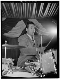 Gene Krupa. All drummers need to take some notes from this dude's set-up to skill ratio