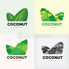 YAY Images - coconut concept logo or symbol by Bhumkiti Panwannakul Fruit Packaging, Packaging Design, Logo Garden, Sweet Logo, Fruit Logo, Logo Desing, Color Psychology, Logo Food, Coconut Oil