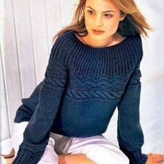 Удобный пуловер (Вязание спицами)