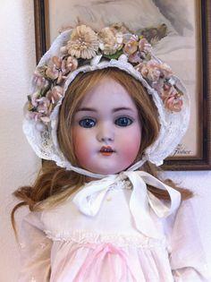 Beautiful Antique German 1078 Simon Halbig Doll Wearing Original Dress Etc | eBay