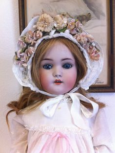 Beautiful Antique German 1078 Simon Halbig Doll Wearing Original Dress Etc   eBay