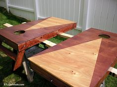 Stained Triangle (Pyramid) Cornhole Boards | The Tossing Games Forum