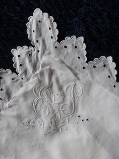 Antique French large linen monogrammed pillowcase pillow cover cushion case w Richelieu lace embroidery, vintage bed linens heirloom bedding by MyFrenchAntiqueShop on Etsy https://www.etsy.com/listing/246409835/antique-french-large-linen-monogrammed