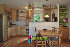 Kuchyně v novostavbě rodinného domu v Dyníně