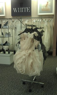 """Bridesmaid dress from """"White"""" by Vera Wang (Picture taken at David's Bridal in Lincoln, Nebraska)"""