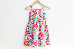 Floral girls dress. bright and cheery