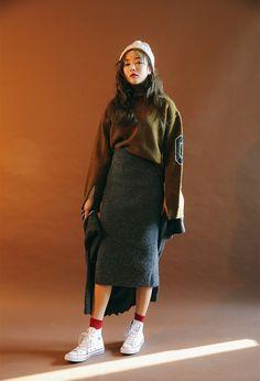 Slit Zero Pattern Sweater | STYLENANDA