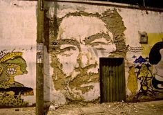 Vhils. Assorted walls in Colombia