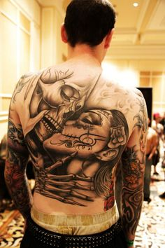 see more KISSING TATTOOS ON BACK OF THE BODY