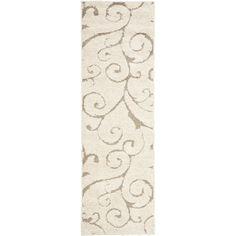 Ultimate Cream/ Beige Shag Rug (2'3 x 8')   Overstock.com Shopping - The Best Deals on Runner Rugs