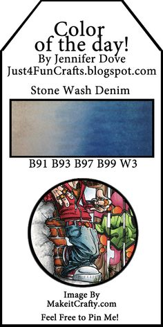 Copic Color Combo: Stone Wash Denim