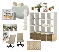 """""""Angel's Office"""" by transformthislife on Polyvore featuring interior, interiors, interior design, home, home decor, interior decorating, Schoolhouse Electric, Holly's House, Pier 1 Imports and Kate Spade"""