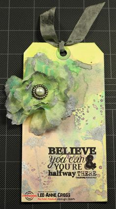 Stenciled Flower and Tag Tutorial using ARTplorations stencils and STAMPlorations stamps
