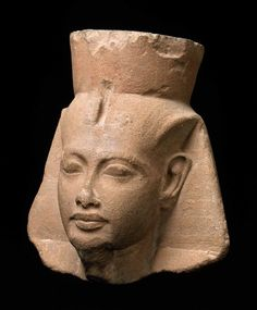 Head of King Tutankhamen  Egyptian, 1336–1327 B.C. At Boston Museum of Fine Art.