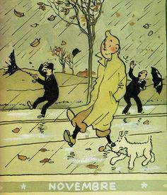 The cartoon series is set during a largely realistic 20th century. Its hero is Tintin, a young Belgian reporter. He is aided by his faithful fox terrier dog Snowy.