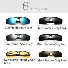 Aluminum Magnesium Alloy Sunglasses UV Protection Polarized Driving Outdoor Eyeglasses at Banggood