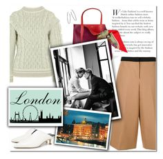 """""""How to Style a Chunky Knit Sweater for Travel to London this Fall"""" by outfitsfortravel ❤ liked on Polyvore featuring Alanui, N°21, TIBI, Nina Gilin and Hermès"""