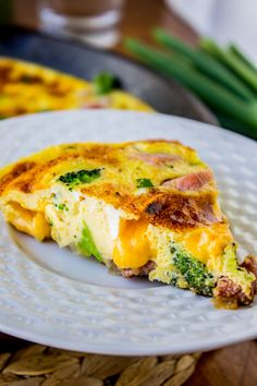 Cheesy Ham and Broccoli Frittata - The Food Charlatan
