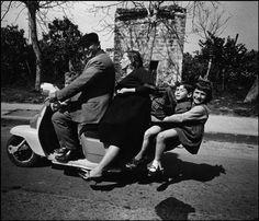 Lambretta Family  Palermo, Italy, 1966  Bruno Barbey