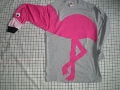 Flamingo shirt long sleeve tshirt with by CreativeCallipipper