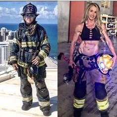 Firefighter School, Firefighter Baby, Firefighter Wedding, Female Firefighter, Firefighter Pictures, Fit Women, Sexy Women, Military Women, Beautiful Figure