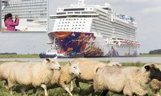 An enormous shadow was cast over the otherwise peaceful, pastoral scenes in Papenburg when new cruise ship The World Dream made its maiden voyage down a seemingly impossibly narrow river. Family Cruise, Cruise Ships, Horses, River, Vacation, Cruises, World, Places, Travel