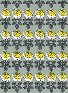 Marimekko Maalaisruusu Ivory / Fuchsia Fabric Repeat - New Arrivals Textiles, Textile Patterns, Textile Design, Print Patterns, Marimekko Wallpaper, Marimekko Fabric, Pattern Paper, Pattern Art, Pattern Design