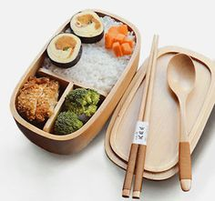 New Natural Wood Bento Lunch Box Food Container Wooden Sushi Box 1 Tier 6323 | eBay