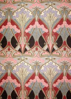 Ianthe Liberty of London vintage sample by retro age vintage fabrics, art deco print Motifs Art Nouveau, Motif Art Deco, Art Deco Pattern, Art Nouveau Design, Art Design, Art Deco Print, Graphic Design, Textures Patterns, Fabric Patterns