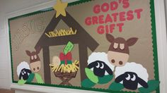 Christmas Nativity Bulletin Board Religious Bulletin Boards, Bible Bulletin Boards, December Bulletin Boards, Christian Bulletin Boards, Winter Bulletin Boards, Preschool Bulletin Boards, Bullentin Boards, 3d Christmas, Preschool Christmas