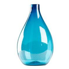 """Poseidon Small Blue Teardrop Vase; """" Lekker """" marshalls CB2 ikea homegoods west elm"""
