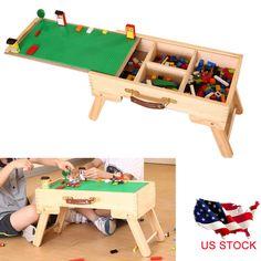 LEGO Storage Play Table Desk Folding Custom Made Wooden Chalkboard Kids  Children #LEGO