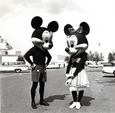 Mickey and Minnie Mouse, 1950s