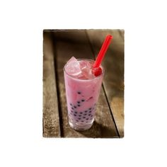 Bubble tea! lifeofbun ❤ liked on Polyvore featuring food